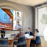 Универсальный 130″ дисплей LG LAA015F для эффектных презентаций